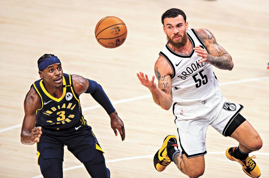加盟籃網以來,邁克(右)的表現獲得認可。美聯社