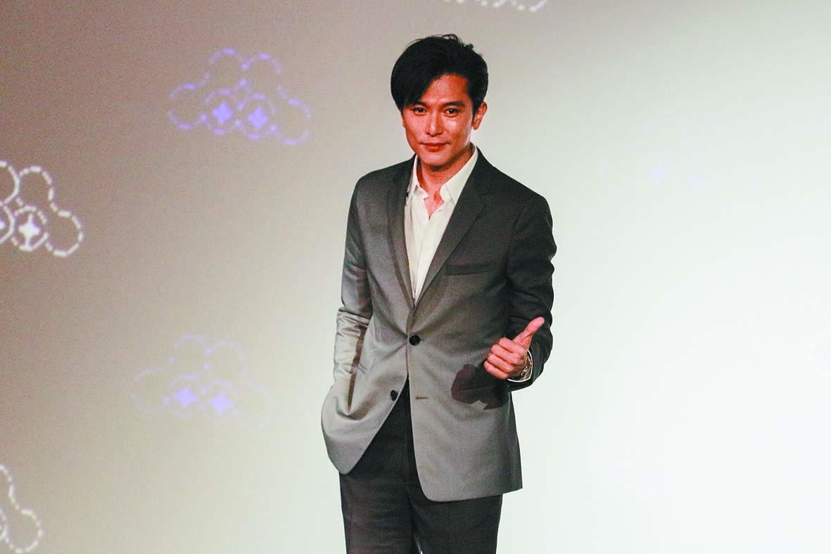 ■邱澤4日出席台北電影節形 象廣告首映發布會。 中央社