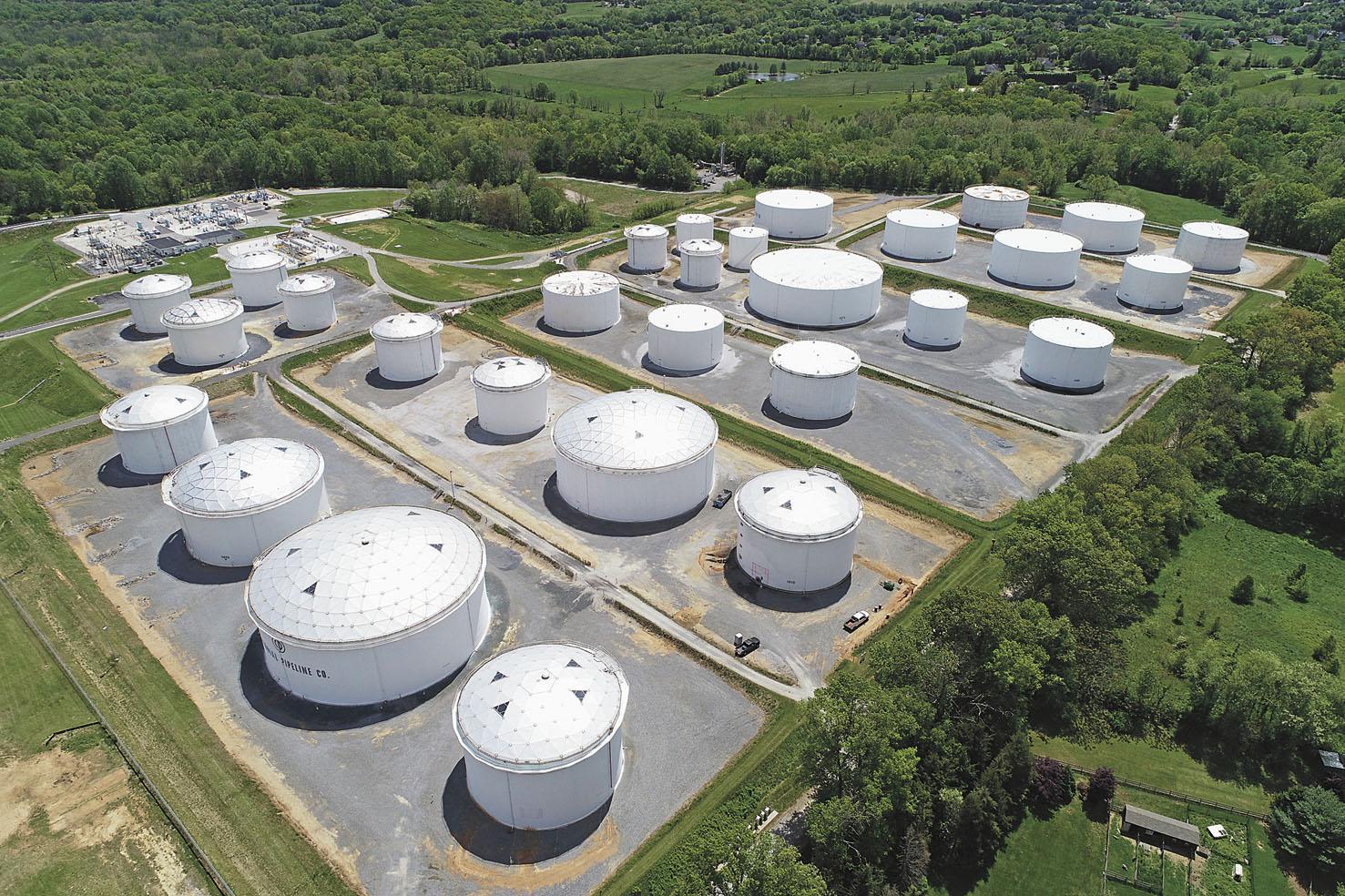 美國殖民管道公司每天輸送250萬桶汽油、柴油及航空燃油和其他精煉產品。資料圖片