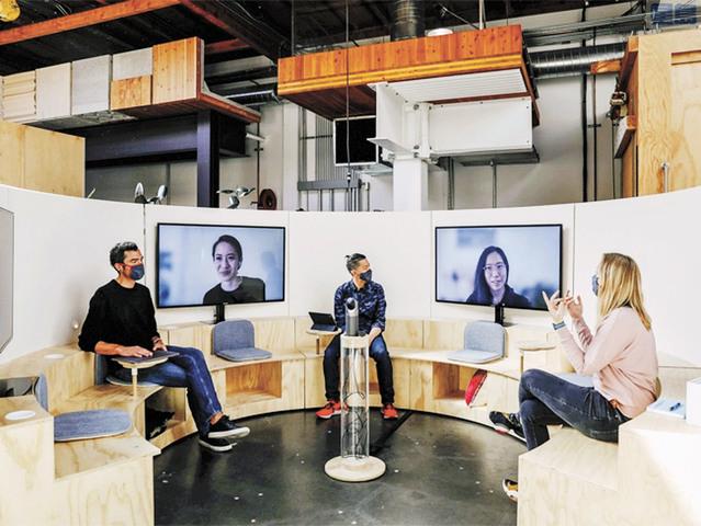 谷歌創造新型辦公空間、混合辦公室和遠距上班。資料圖片