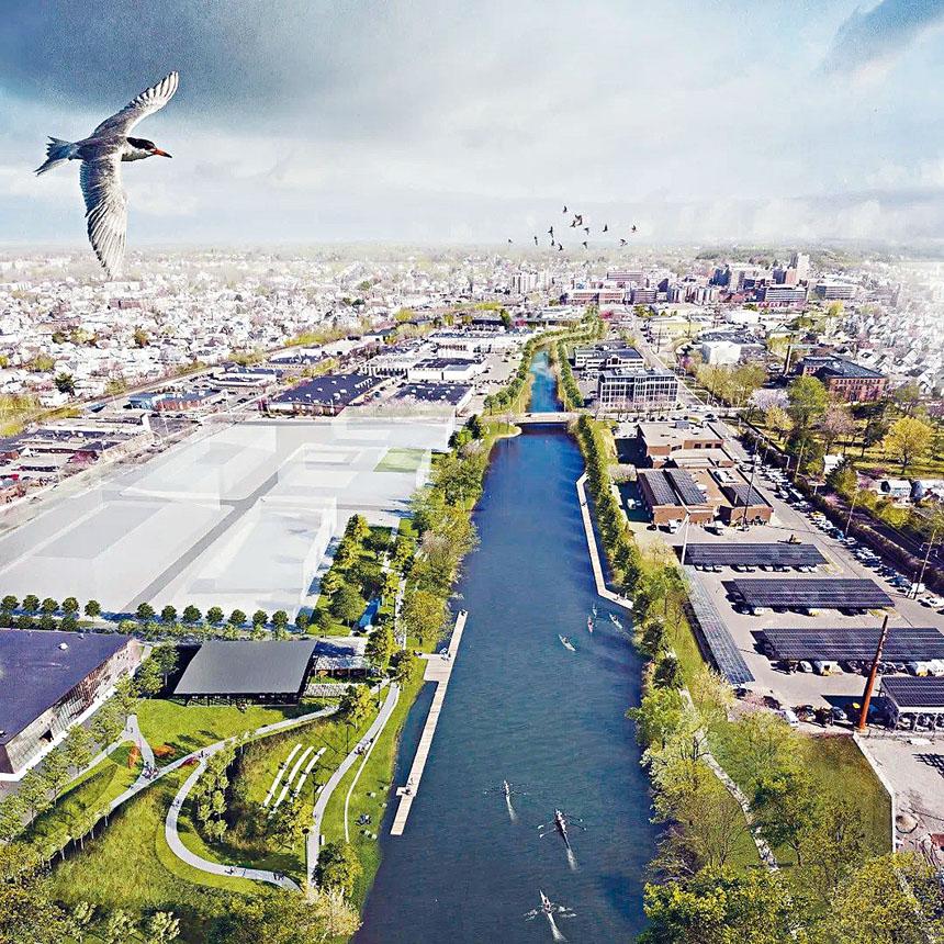 馬薩諸塞州摩頓河俯瞰圖。華夏文化協會供圖