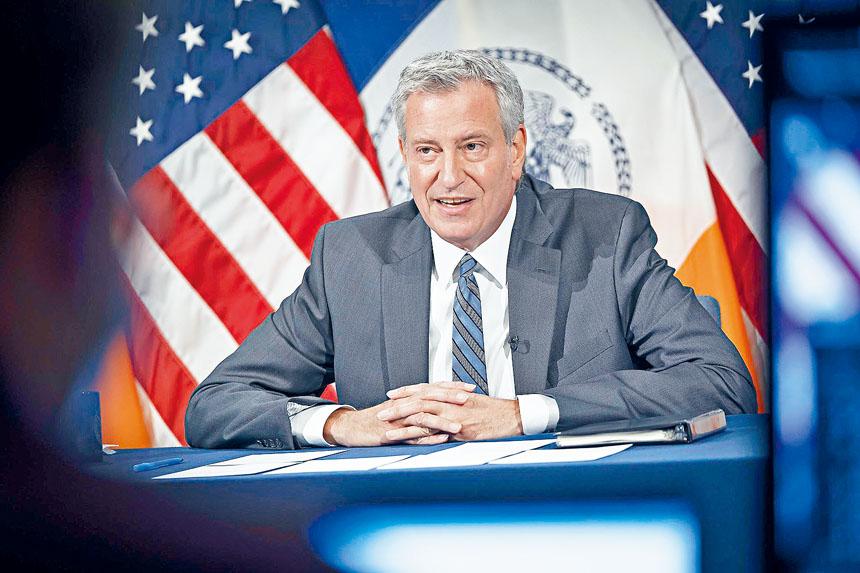 白思豪表示,紐約市恢復速度快於預期。源自市府