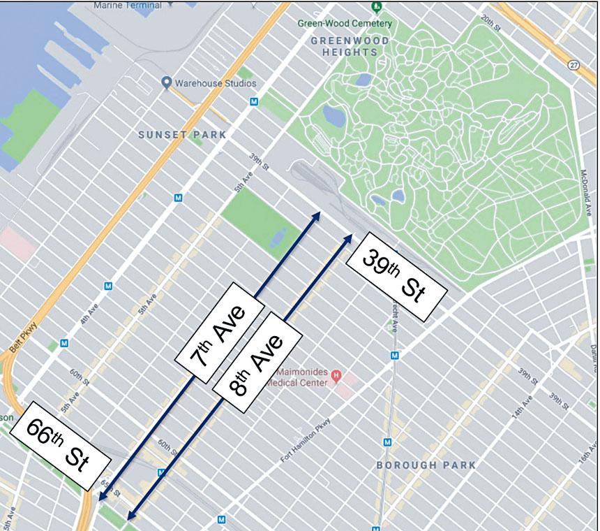 市交通局欲將8大道改為單行道。 市交通局提供