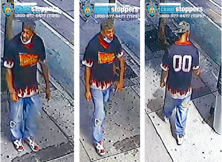 圖為發生在中城的案件涉案男嫌。NYPD