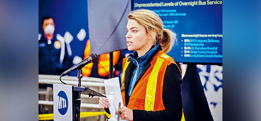 一旦提名獲得確認,范伯格將成為MTA主席。Hilary Swift/紐約時報