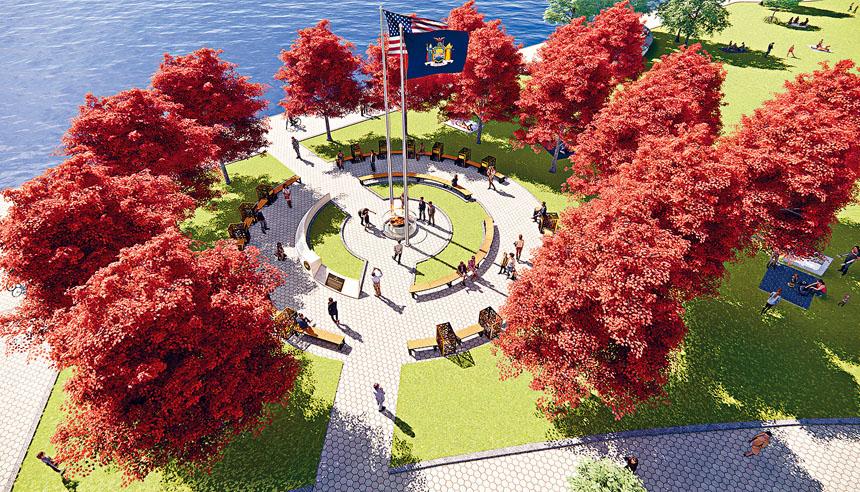 紐約將在砲台公園建造防疫英雄紀念碑。 推特圖片