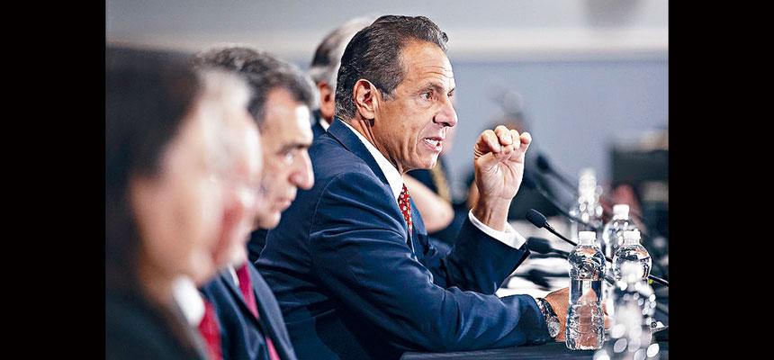 柯謨表示,紐約的陽性率目前是全國最低。州長辦公室圖片