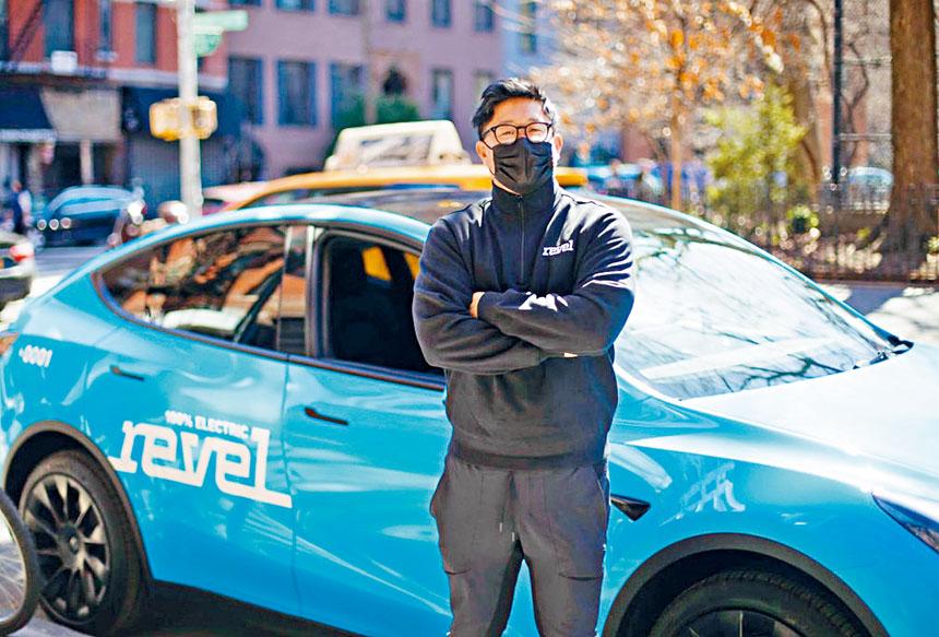 Revel計劃以50輛Tesla電動車組成「藍的」。Revel圖片