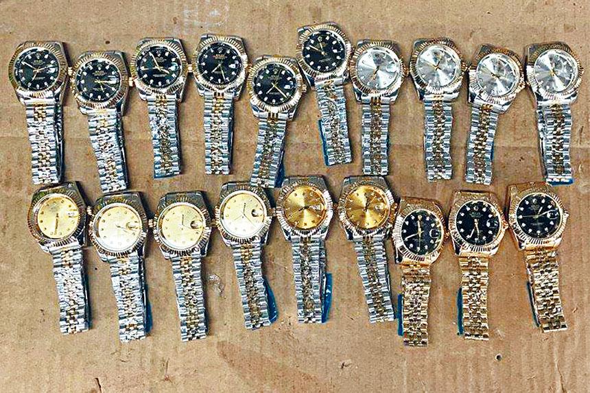 這批手錶的正版總價值約28.5萬元。海關和邊境保護局圖片