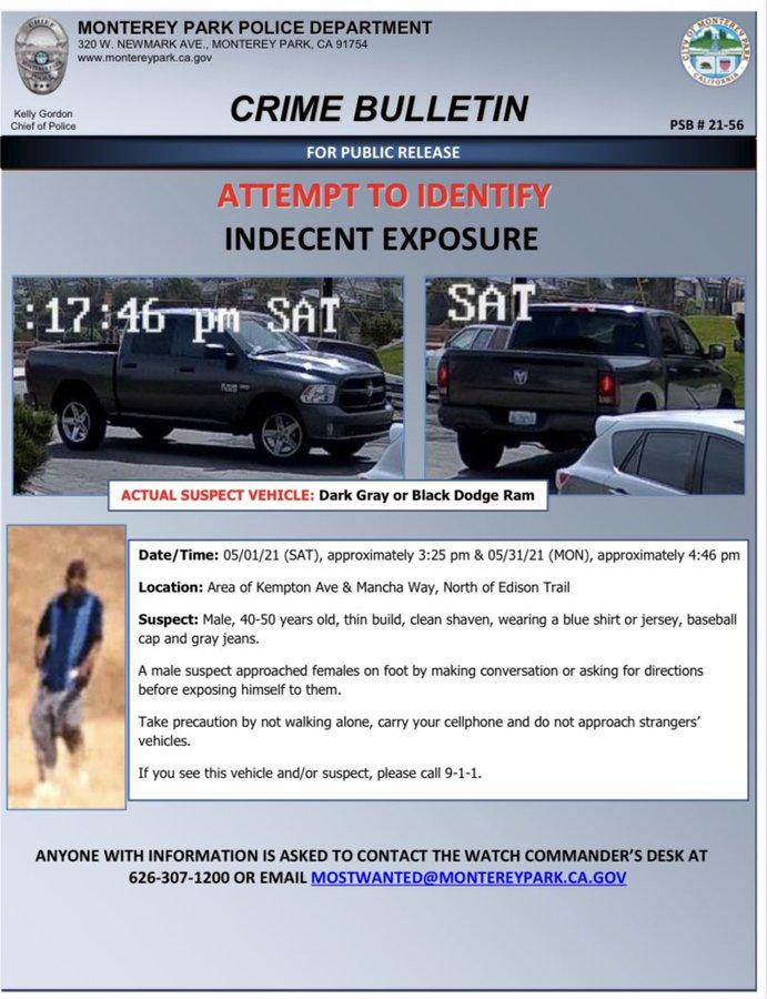 蒙市警方公布嫌疑犯監視影像與車輛照片。CBSAL