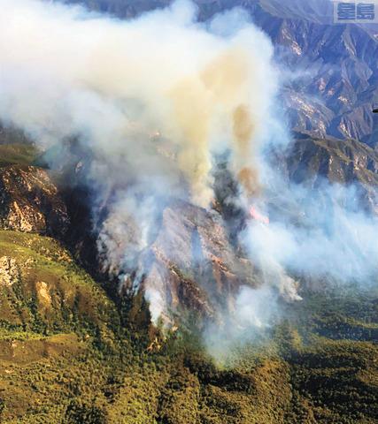 洛斯柏德尼斯國家森林發生山火。國家森林服務局