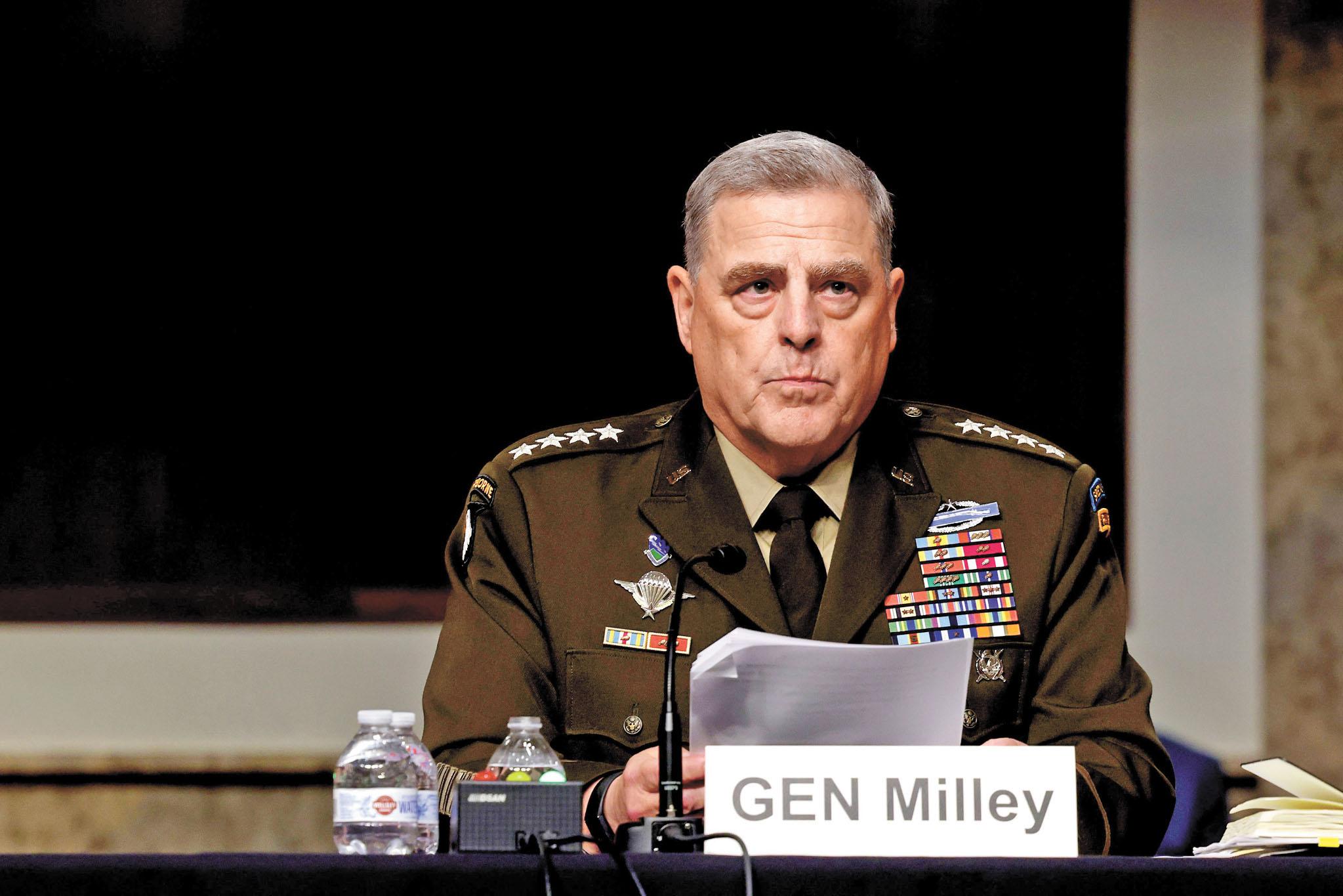 美國參謀首長聯席會議主席米利表示,若中國軍事侵略台灣,美軍將有能力捍衛台灣。美聯社