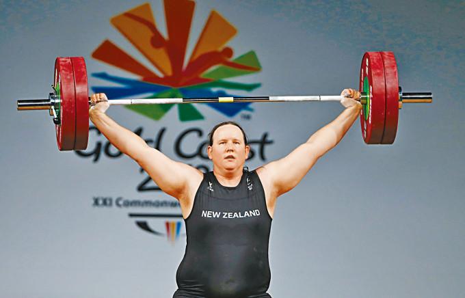 紐西蘭國家隊跨性別舉重選手哈伯德。