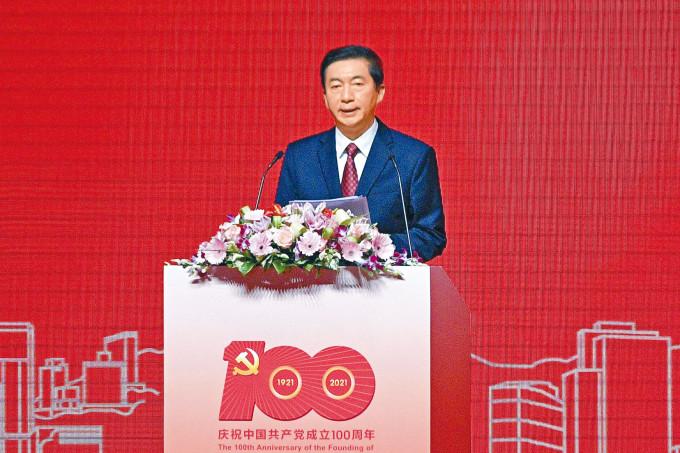 駱惠寧在論壇上表示若沒有中央撥亂反正,香港怎能迎來由亂及治。