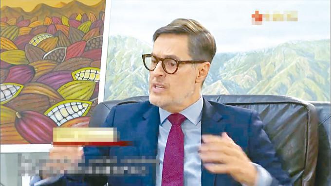 委內瑞拉駐華大使普拉森西亞。