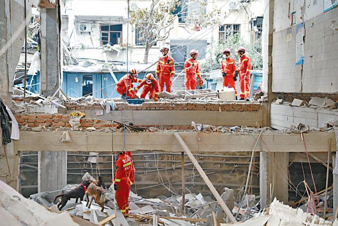 十堰市一個街市上周發生爆炸。
