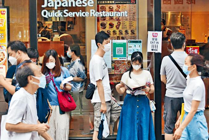 疫情緩和下,市民消費意欲有所增強。