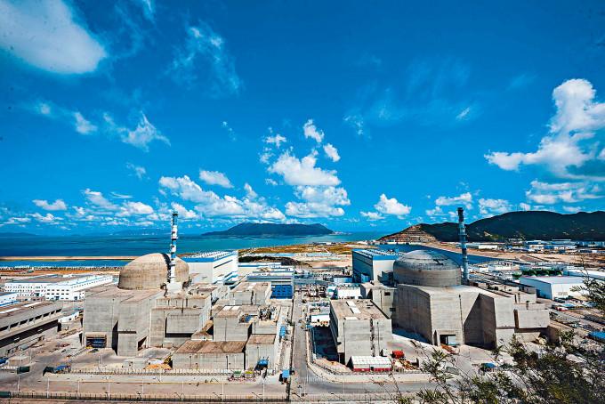 台山核電站一八年六月開始發電。