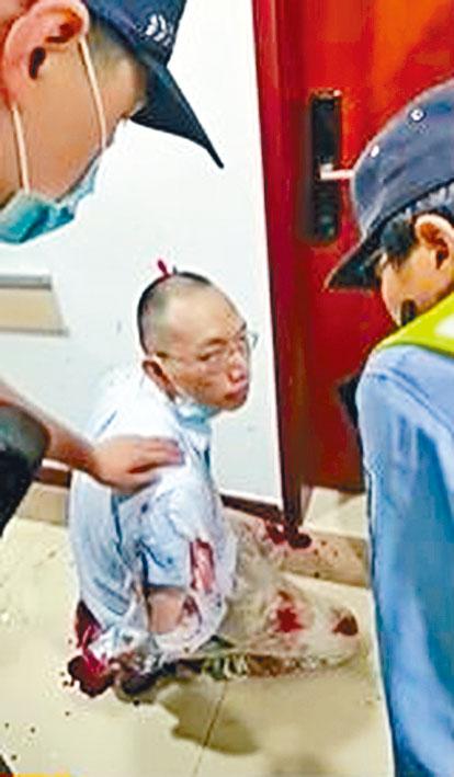 疑兇姜文華(圖)殺害數學學院黨委書記王永珍後被制服。