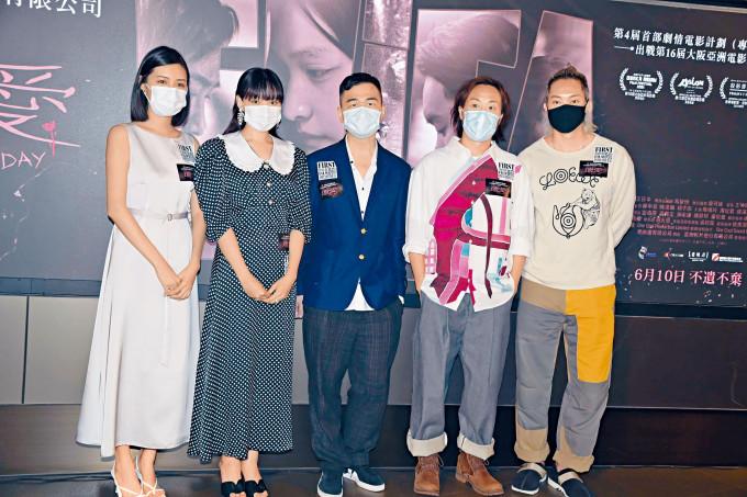 一班主演前晚齊現身電影《遺愛》慈善首映禮。