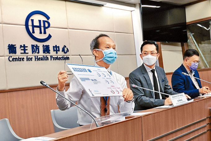 劉宇隆(左)認為,長者可以考慮接種科興疫苗。