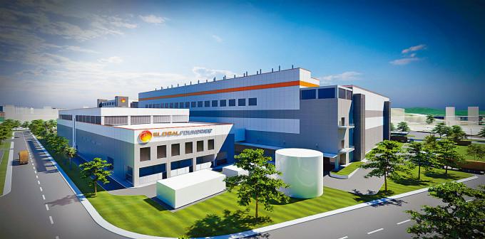 GlobalFoundries計畫興建的新加坡新晶片廠電腦模擬圖。