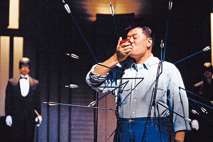 「肥佬黎」當年親身上陣,拍攝《蘋果日報》創刊廣告。
