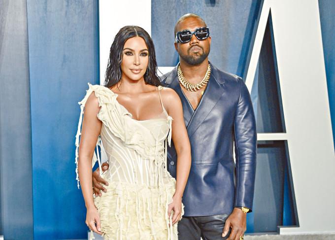 Kanye和Kim 2月入紙離婚,男方已有新歡。
