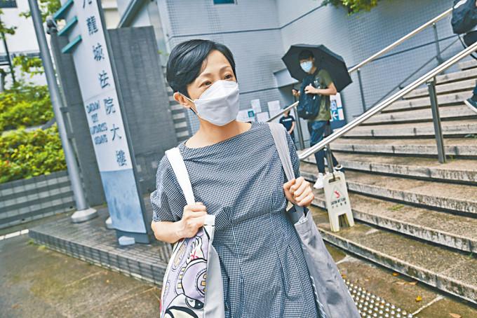 前議員陳淑莊(圖)與香港中小企食店聯盟召集人林瑞華,被控違反限聚令脫罪。