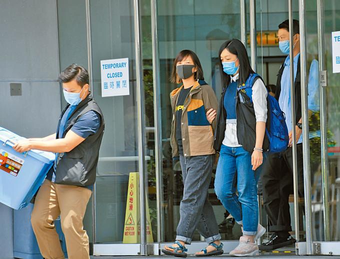 《蘋果日報》副社長陳沛敏涉串謀勾結外國或境外勢力危害國家安全罪。