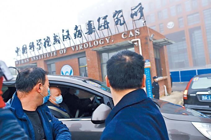 今年初世專家到武漢病毒研究所調查。