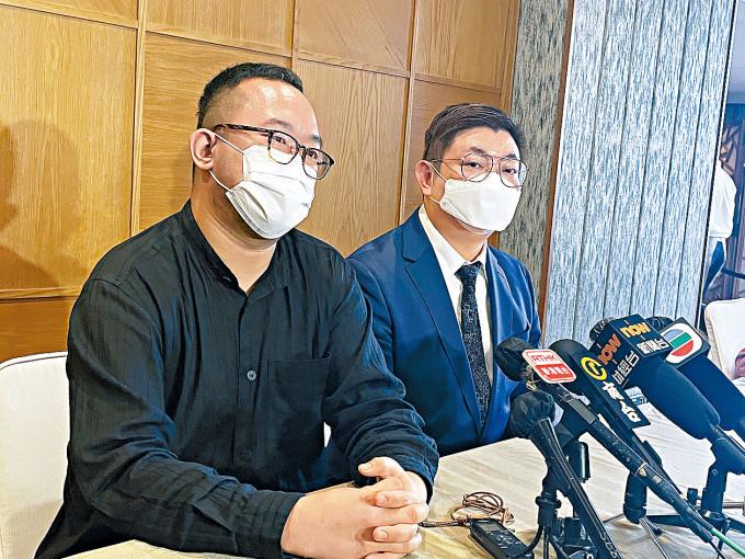 凌霄志(左)表示,公營醫療系統屬結構性問題。