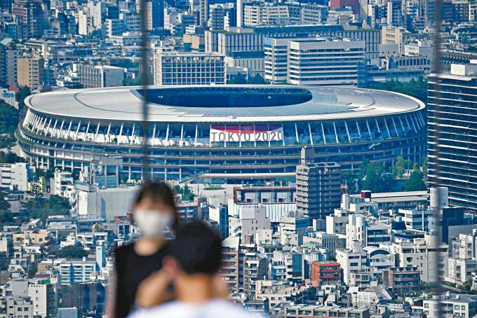 位於東京的東奧開幕禮場館日本國立競技場。