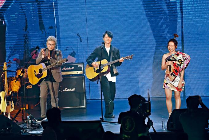 周國賢現身糖兄妹演唱會擔任表演嘉賓。