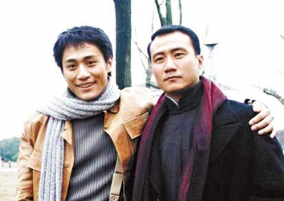 劉燁與胡軍早年合作《藍宇》的舊照。 網上圖片