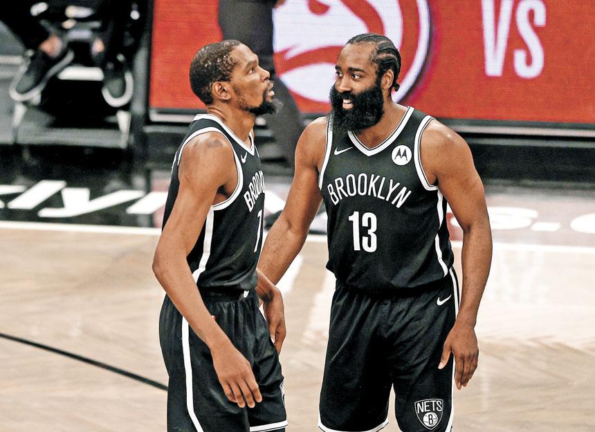籃網雙巨頭杜蘭特和哈登有望在東京奧運會上攜手為國出戰。美聯社