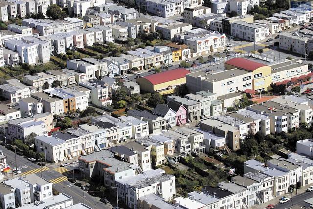 三藩市36.3%房屋價值一百萬元以上。美聯社資料圖片