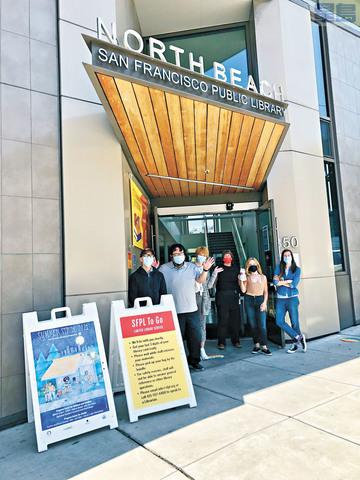 三藩市多個圖書分館陸續重啟提供服務。三藩市公共圖書館