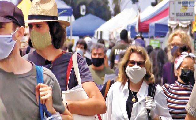 聖縣公佈6月15日解封後的口罩規定。資料圖片