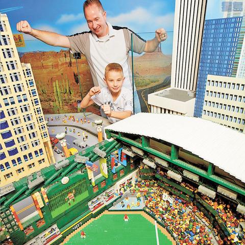 苗巿大賣場「樂高園探索中心」開幕,圖為中心內的迷你樂園。官網圖片