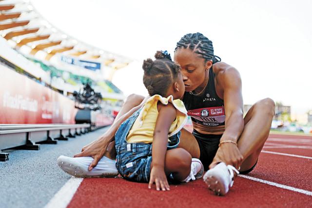 菲利克斯成功進軍東京,將生涯第5次出戰奧運,女兒是她最大的動力。美聯社