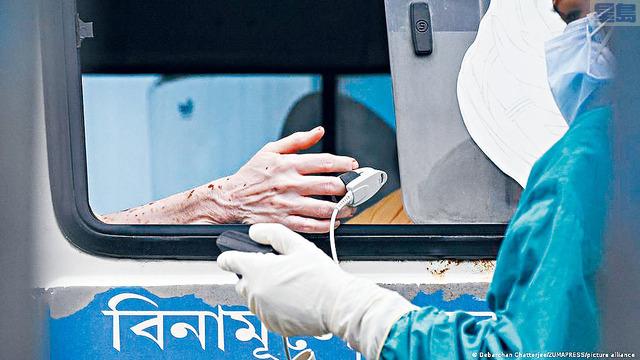 ■根據CDC數據,5月份全美有1%的新病例感染印度變種病毒,但之後急升到現在的6%。    ZUMA圖片