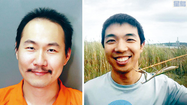 嫌犯潘勤宣(左)疑近距離射殺了江凱文。網上圖片