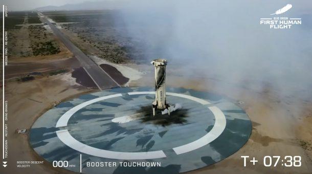貝佐斯乘坐藍色起源太空船升空 10分鐘後安全降落地球