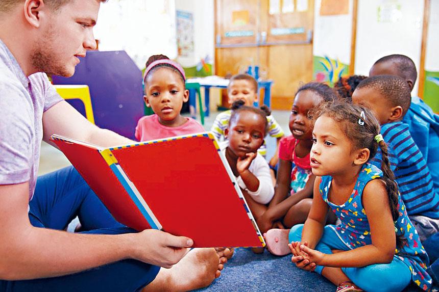一兒童保育機構在進行兒童課堂教育。BPDA供圖
