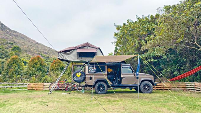今屆國際旅遊展,新增主題豪華露營展區。