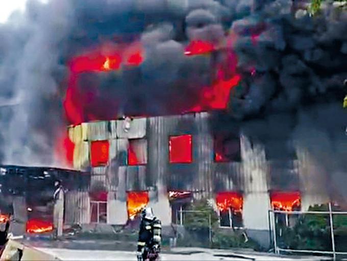 鋁合金廠爆炸現場。