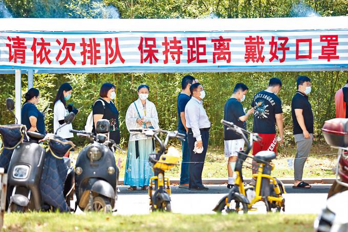 南京江寧區開展全員核酸檢測。