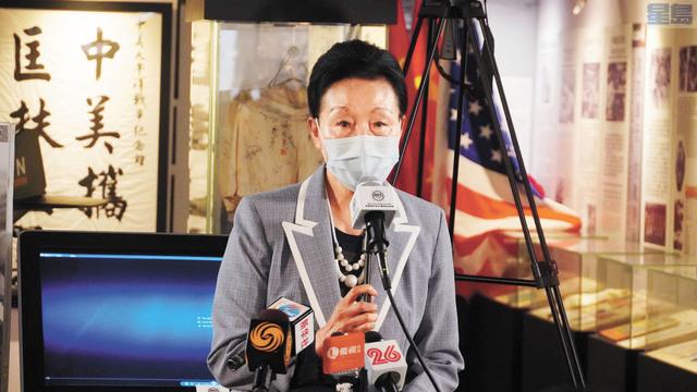 ■海外抗日戰爭紀念館榮譽館長方李邦琴致辭。
