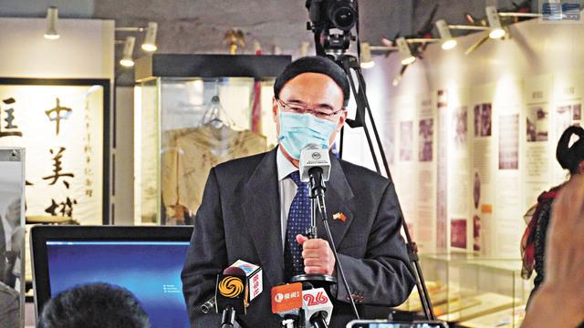 ■中國駐舊金山總領事館王東華總領事致辭。